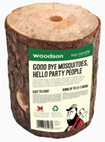 Woodson Log Candle per 2 stuks
