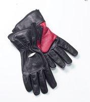 Bon-firelederenBBQ handschoenen maat Mkleur zwart/rood