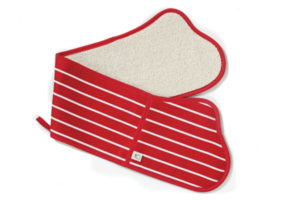 Classics Butchers dubbele ovenwant rood wit gestreept