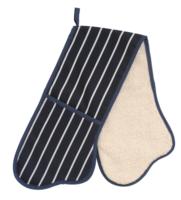 Classics Butchers dubbele ovenwant blauw wit gestreept