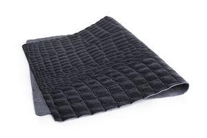 Ovenchef lederen placemat Aligator zwart (set van 4 stuks)