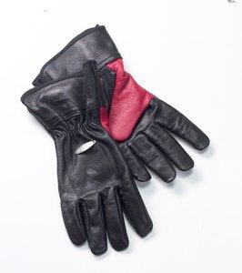 Bon-firelederenBBQ handschoenen zwart rood