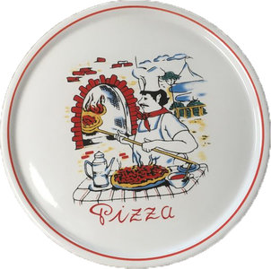 Pizzabord steen rond 30 cm