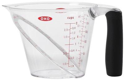 OXO Good Grips maatkan 0,5 liter van bovenaf leesbaar