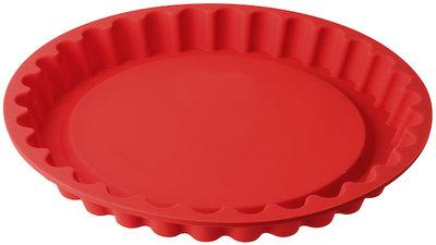 Dr Oetker Vlaaivorm siliconen 28 cm rood